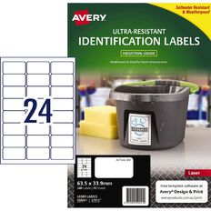 Avery Ultra-Resistant Outdoor Labels White 240 Labels