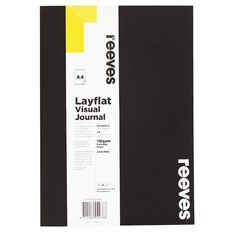 Reeves Visual Journal Layflat Black A4 30 Sheets Black