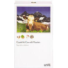 Uniti Crystal Art 35x45cm Cow & Mountain