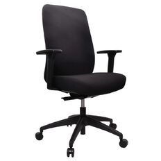 Buro Seating Vela Highback Chair with Arms Black