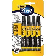 Bic Vivid Fine Marker 4 Pack Black