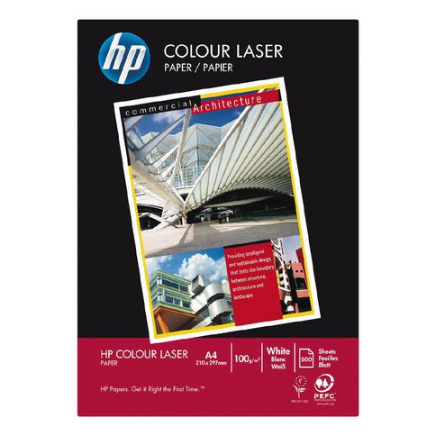 HP Colour Laser 100gsm 500 Pack White A4