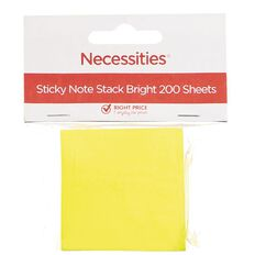 Necessities Brand Sticky Notes Stack Bright Small 200 Sheets