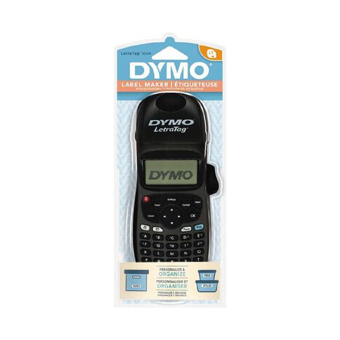 Dymo Letratag Hand Held Label Maker LT100 Black