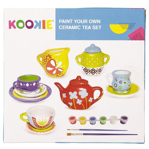Kookie Paint Your Own Ceramic Tea Set