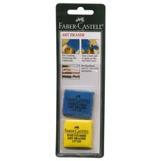 Faber-Castell Art Eraser 2Pk Multi-Coloured