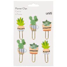 Uniti Planner Clips Cactus