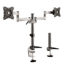 Brateck Aluminum LCD VESA Desk Mounts for LCD Screen Size 13-27 Dual