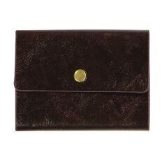 Paper Co Vintage Business Card Holder 24 Pockets Brown