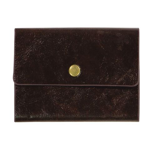 Paper Co Vintage Business Card Holder 24 Pockets Brown Warehouse