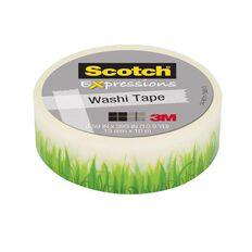 Scotch Washi Craft Tape 15mm x 10m Grass