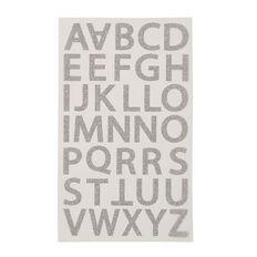Uniti Alphabet Stickers Glitter Silver