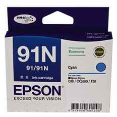 Epson Ink 91N Cyan (210 Pages)