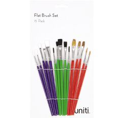 Uniti Brush Set Flat 15 Piece