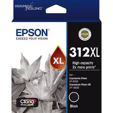 Epson Ink 312XL Black Ink Claria Photo HD (500 Pages)