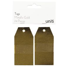 Uniti Tags 24 Piece Metallic Gold