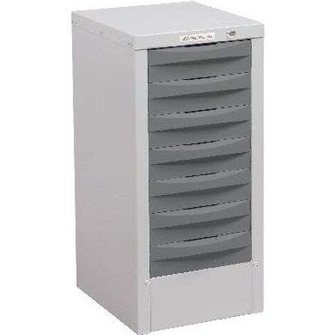 Precision Multi 7 Drawer Silver Grey