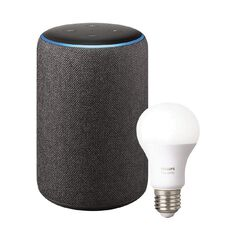 Amazon Echo Plus 2nd Gen Charcoal + Bonus E27 bulb