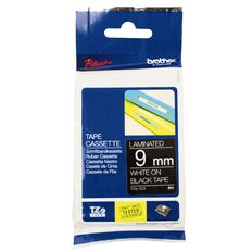 Brother TZE325 Laminated Label Tape White On Black 9mm x 8m
