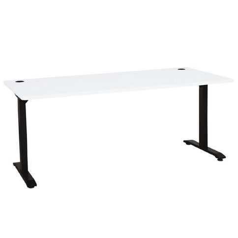 Jasper J Emerge Metal Leg Desk 1800 White/Ironstone