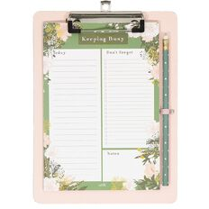 Uniti Secret Garden Magnetic Clip Board With Pencil