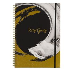 Uniti F&F Hardcover Spiral Notebook  Keep Going Foil Black A4