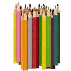 Kookie Coloured Pencils Half Size Multi-Coloured 24 Pack
