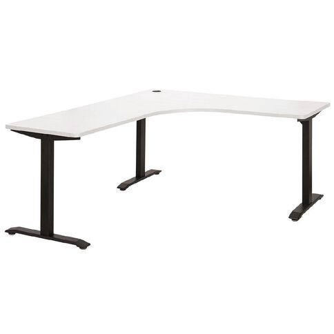 Jasper J Emerge Metal Leg Workstation 1500 White/Ironstone White