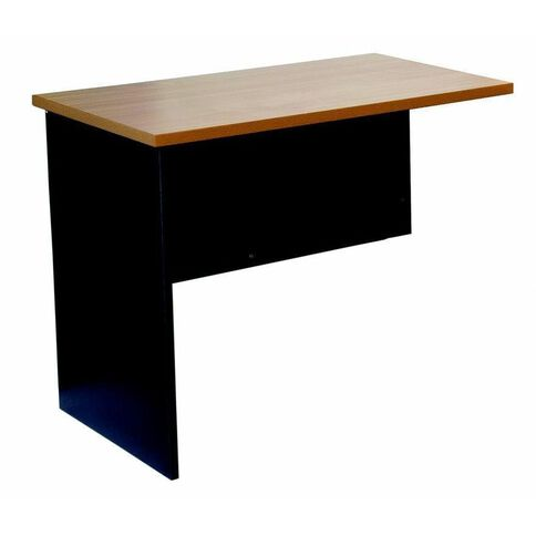 Firstline Desk Return Beech/Ironstone