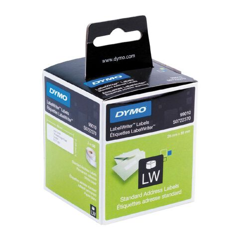 Dymo Label Tape Standard Add Paper/White 89mm x 28mm