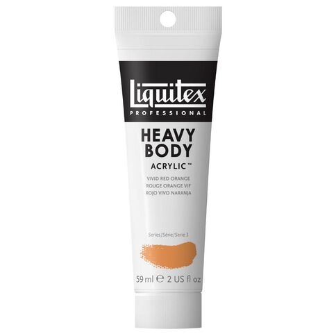 Liquitex Heavy Body Acrylic 59ml Vivid Red Orange