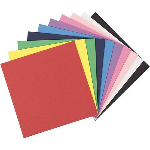 Uniti Value Cardstock Smooth 220gsm Brights 60 Sheets 6in x 6in