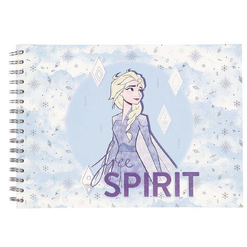 Frozen Disney Sketch Pad Elsa Blue Light A4