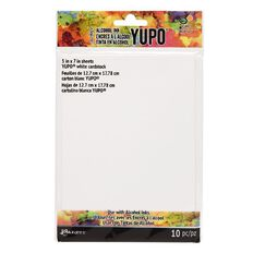 Ranger Tim Holtz Alcohol Ink Yupo White Paper 5in x 7in