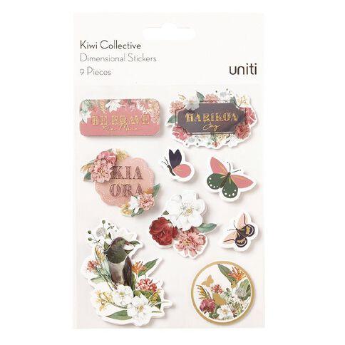 Uniti Kiwi Collective Dimensional Stickers