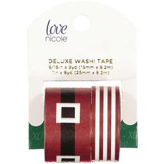 Washi Love Nicole Holiday Santa's Belt 2 Pack