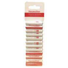 Necessities Brand AAA LR03 Alkaline 12 Pack