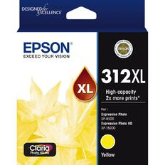 Epson Ink 312XL Yellow Ink Claria Photo HD (830 Pages)