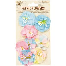 Little Birdie Fabric Flowers Victoria Pastel 8 Piece