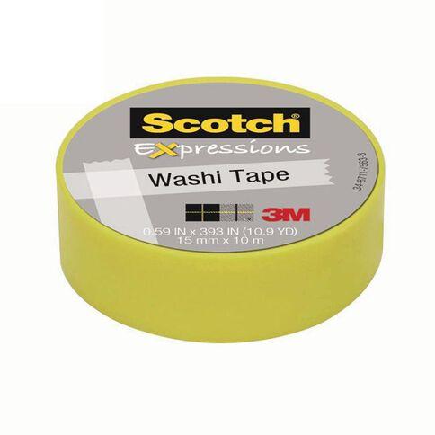 Scotch Washi Craft Tape 15mm x 10m Lime