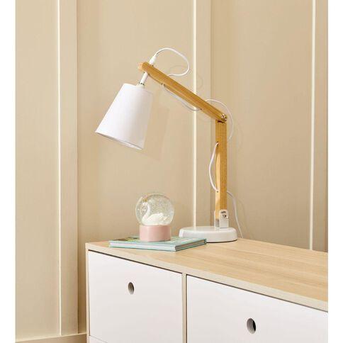 Living & Co Calvin Desk Lamp E14 40w White