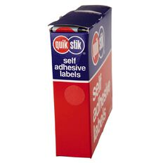 Quik Stik Labels Dots Mc14 1050 Pack Red