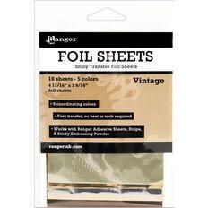 Ranger Foil Sheets Vintage 5 Pack