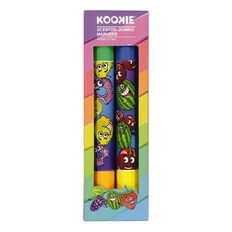 Kookie Novelty Jumbo Markers Scented 2 Pack Multi-Coloured