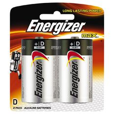 Energizer Max Batteries D 2 Pack
