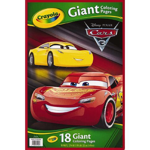 Cars Crayola 3 Giant Colouring Pages