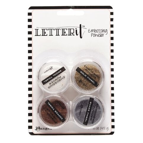 Ranger Letter It Embossing Powder Tinsels 4 Piece
