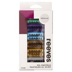Reeves Oil Pastels Metallics 12 Pack