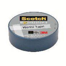 Scotch Washi Craft Tape 15mm x 10m Blue