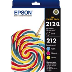 Epson Ink 212XL Black + 212 Standard Colour Value Pack